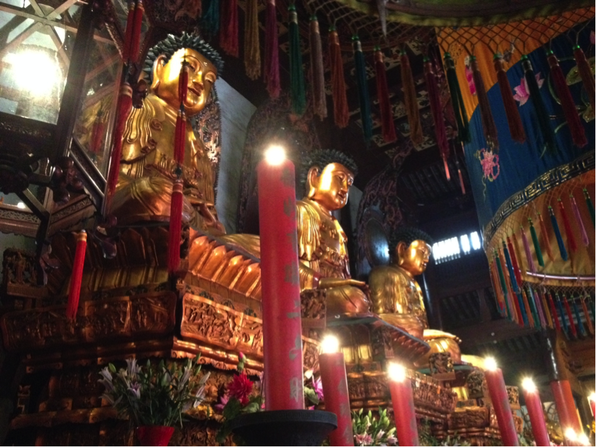 Inside the Jade Buddha Temple