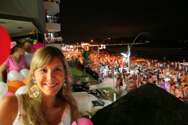 New Year's Eve in Brazil - the beach was just starting to fill up