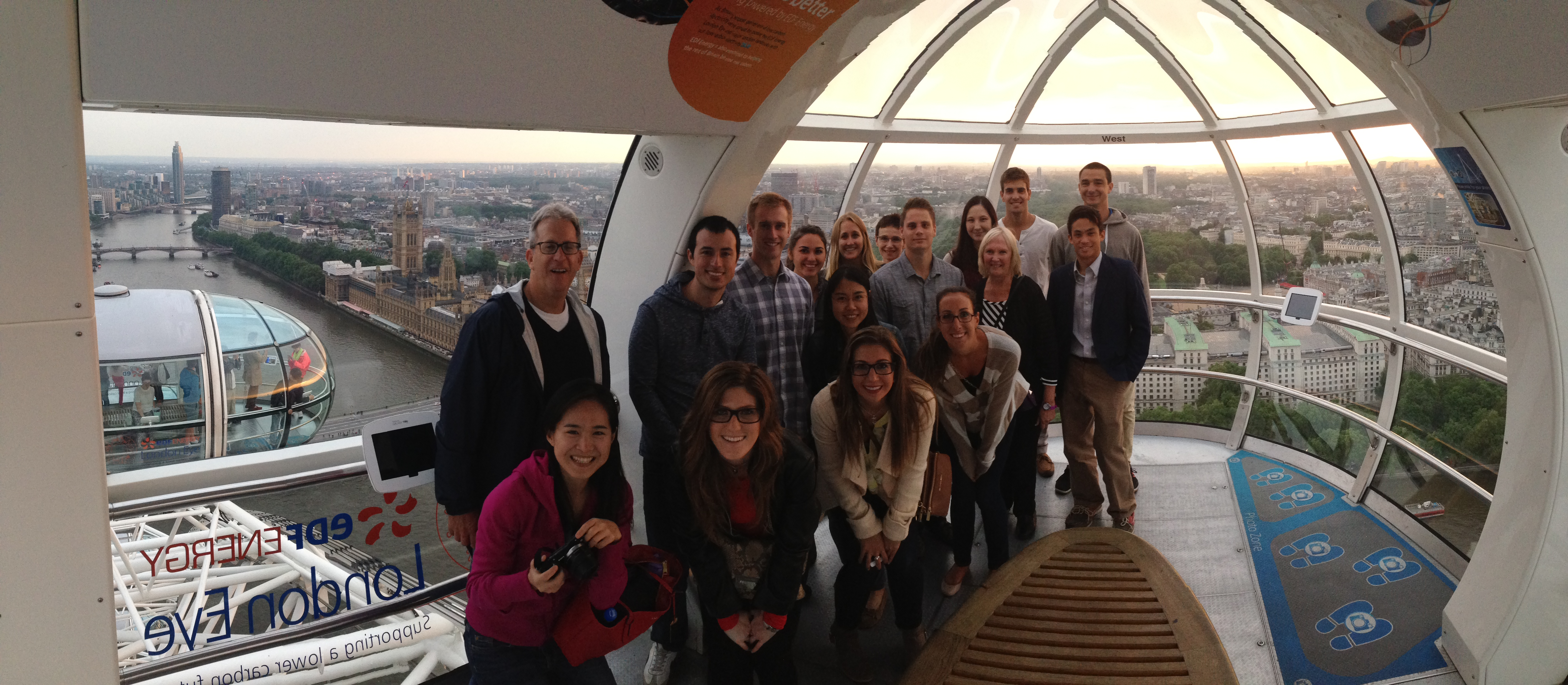 Dr. Pattison and Dr. Judd with Masters of Accounting Students in London Eye