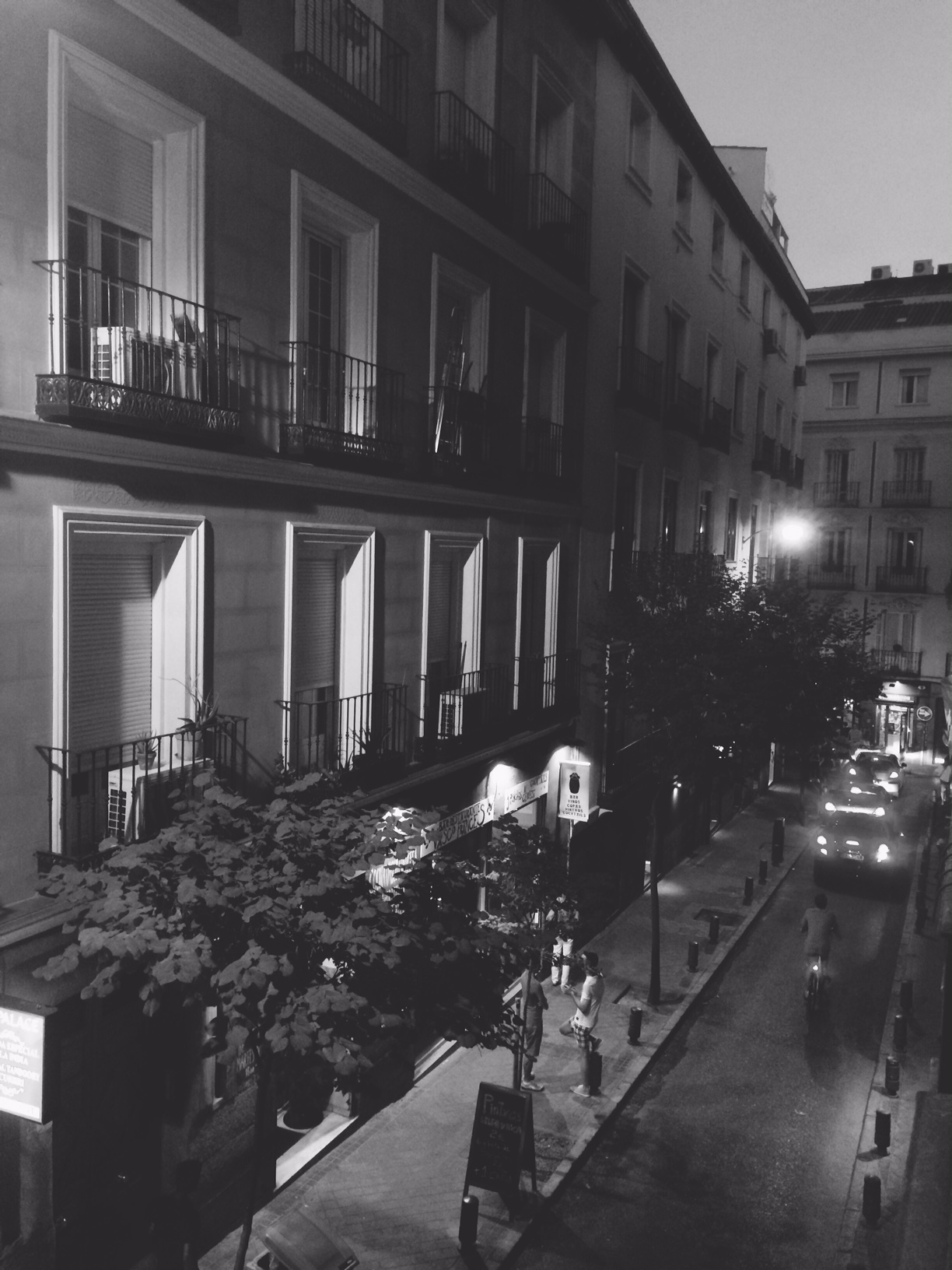 Viewed from Mike Foster's balcony in Madrid