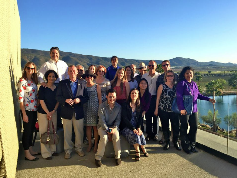 The faculty group at the Monte Xanic winery with speaker Dr. Hans Backoff, the winery's founder and part owner.