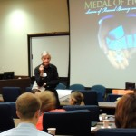 Ed DeRoche addresses seminar attendees