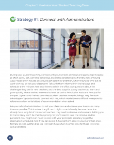 Strategy # 1 Connect with Administrators