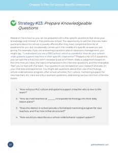 Strategy #23: Prepare Knowledgeable Questions