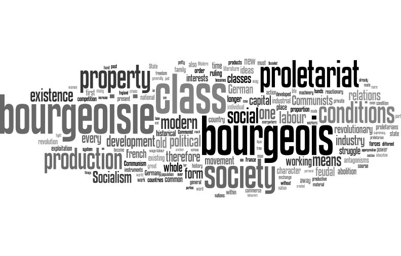 class struggle and the communist manifesto essay Manifesto of the communist party in times when the class struggle nears the decisive hour, the progress of dissolution going on within the ruling class.