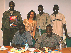 Dr. A with Lost Boys of Sudan