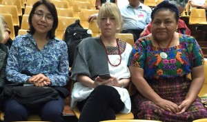 Mendez, on left, with Nobel Peace Laureates Jody Williams and Rigoberta Menchu