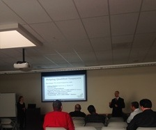 Legal Intern Aaron Clinger presenting on the Audit process.