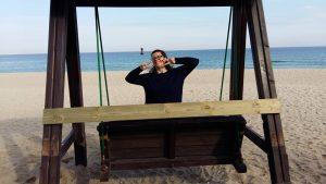 Susan at the beach