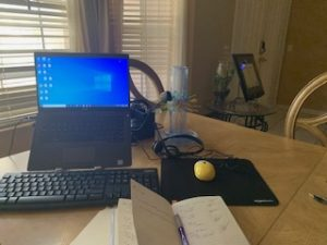 Hector's work station