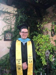 Photo of Hector Teran in Graduation Robe