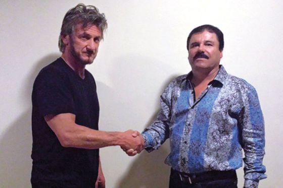 Sean Penn and Joaquín Guzmán. Photo: Rolling Stone