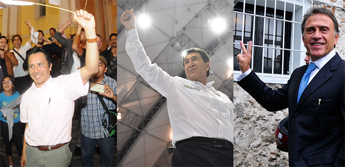 Candidates for Governor in Veracruz. Photo from Proceso.
