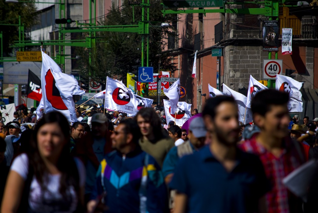 October 2 March in Mexico City. Photo: Michael Lettieri.