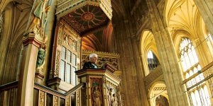 A visit to Canterbury Cathedral during a USD study abroad trip dazzles students.