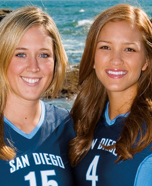 Volleyball Players Amy DeGroot and Ali Troost