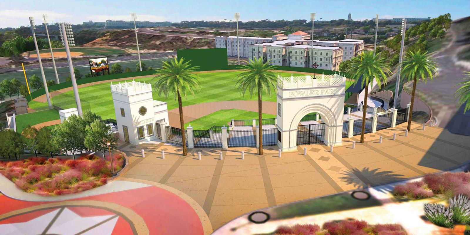 Artist rendering of USD's Fowler Park
