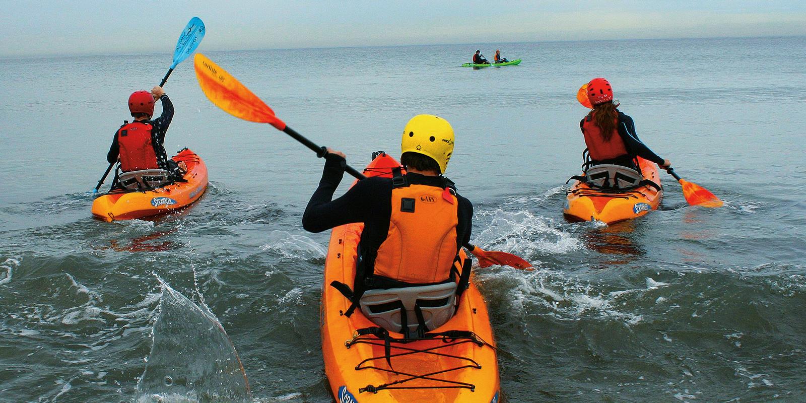 USD students on kayaks