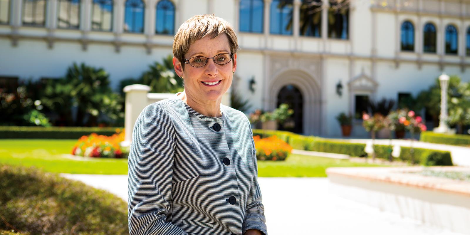 Former USD provost Juiie Sullivan