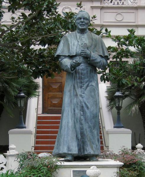 Bishop Buddy statue