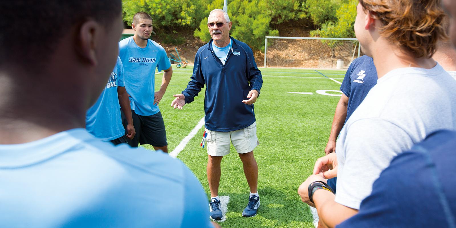 USD Football Head Coach Dale Lindsey