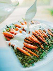closeup of carrots
