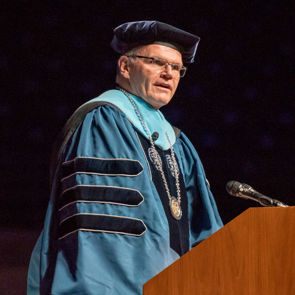 USD President James Harris at 2016 Commencement.