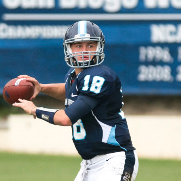USD Quarterback Anthony Lawrence