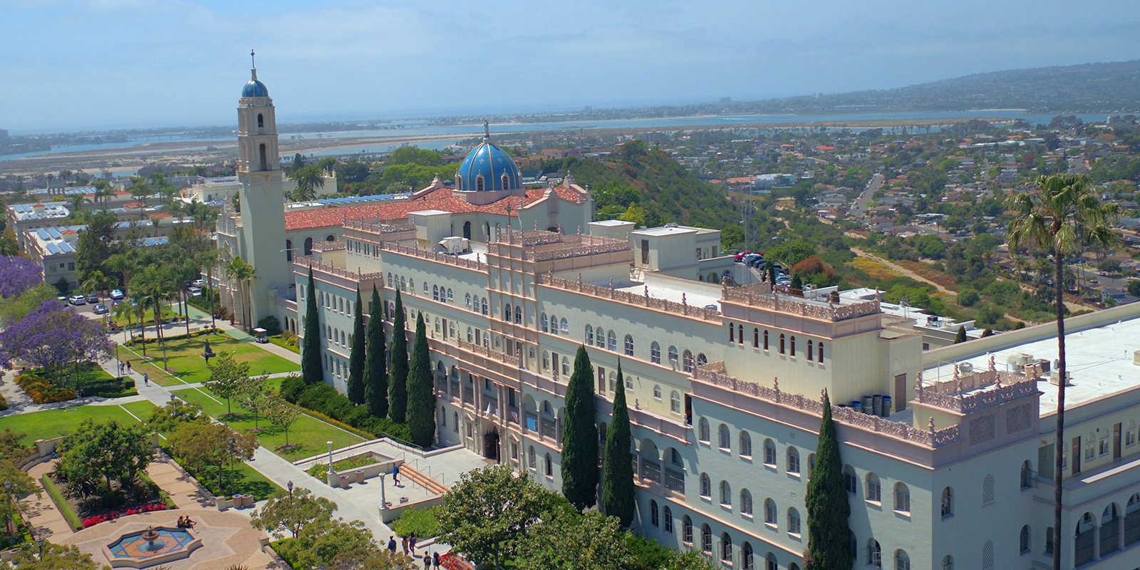 Aerial view of the University of San Diego
