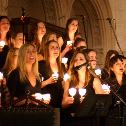 Founders Chori singers with voices raised in song.