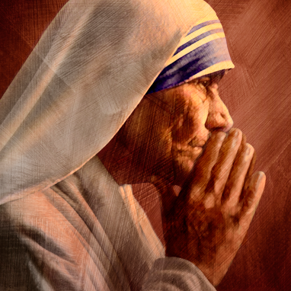 Illustration of Mother Teresa