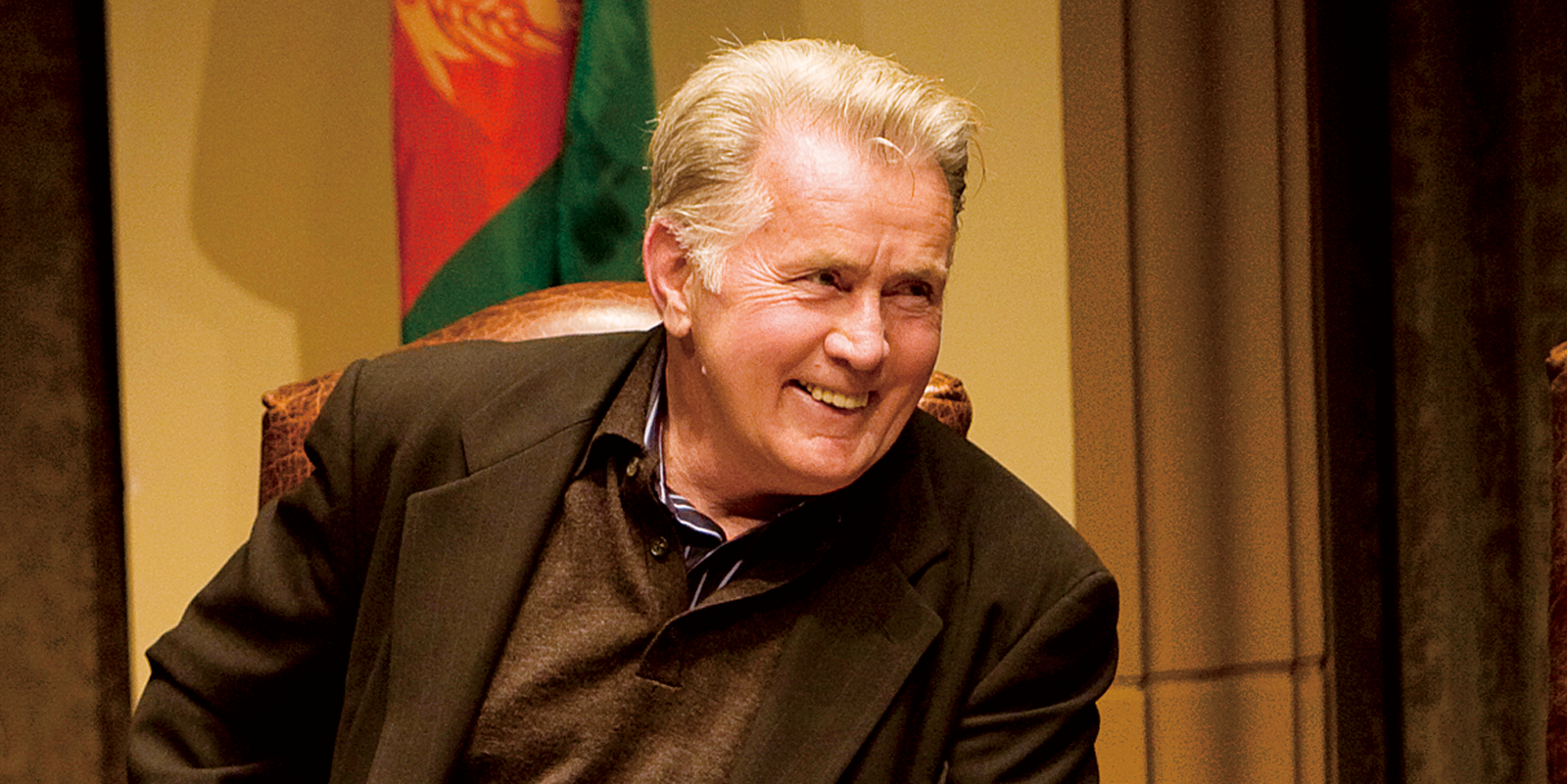 Actor Martin Sheen on the USD campus.