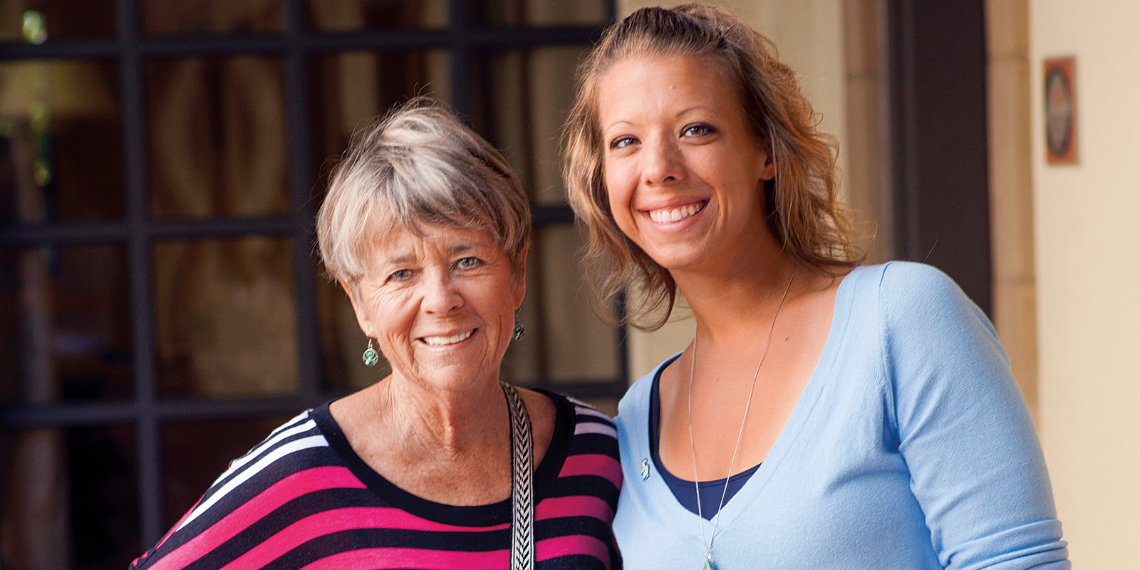 Delle Willett '64 and Amy Bodnar '06