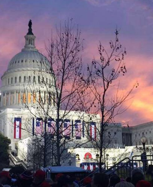 2017 U.S. Capitol the eve of the Inauguration