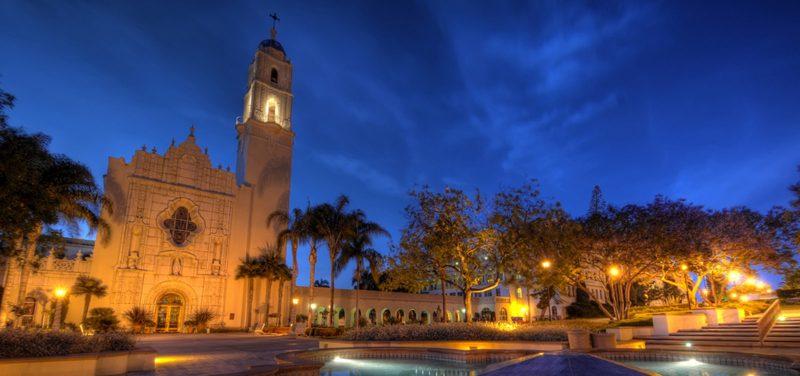 usd campus at night