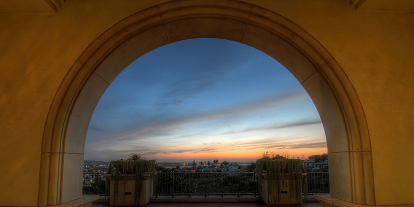 sunset at USD