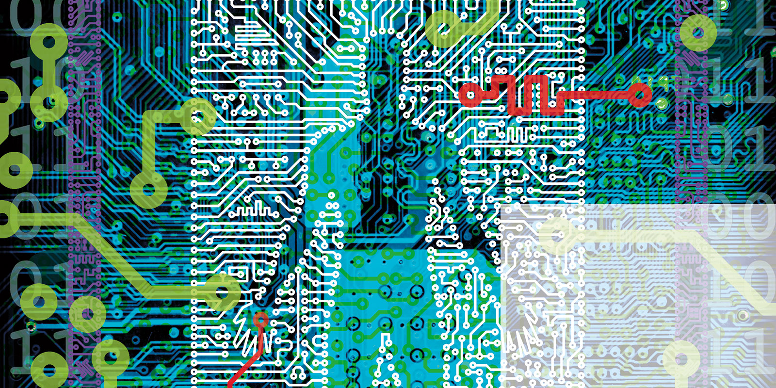 illustration of man and circuit board