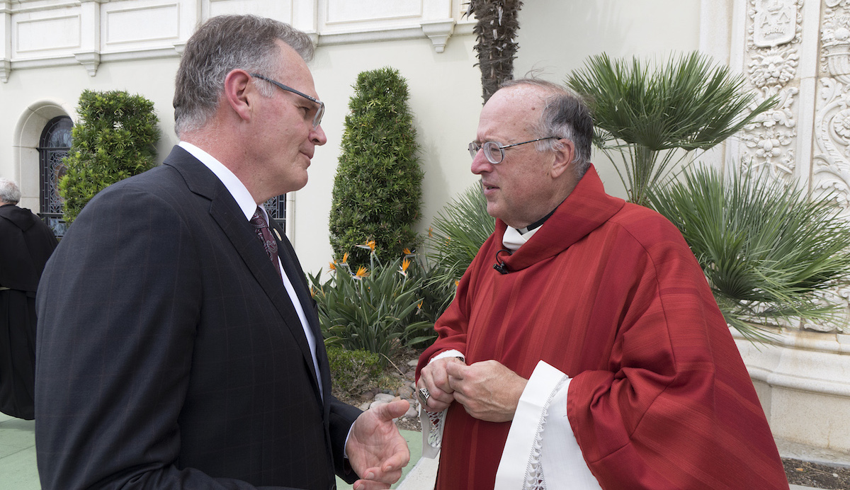 USD President Harris and Bishop McElroy