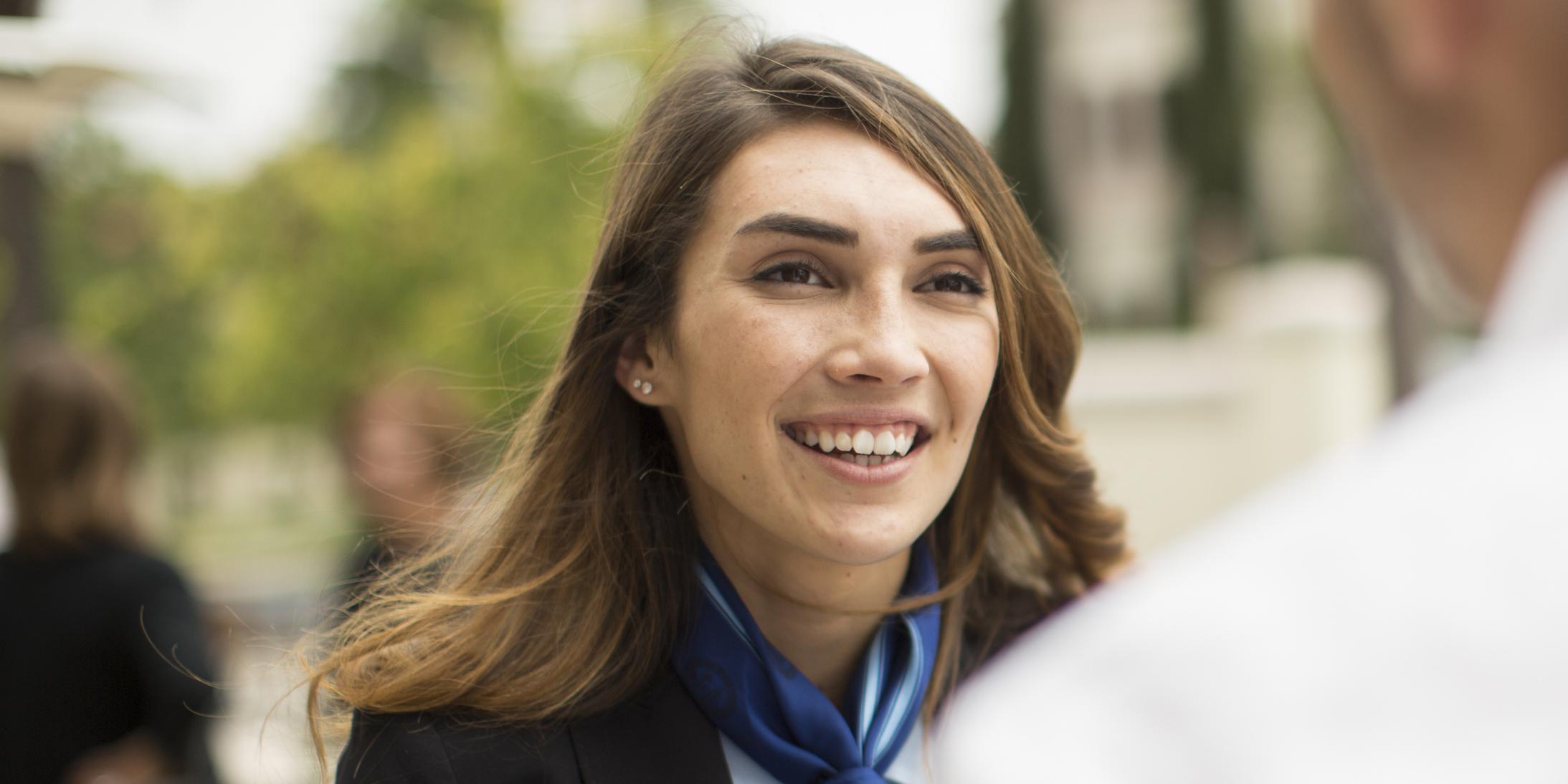 Olivia Gonzalez '17, USD's President for a Day