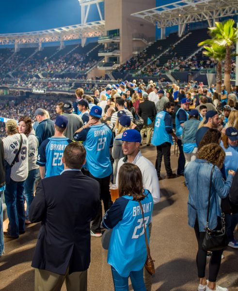 USD alumni and friends enjoy Petco Park in Spring 2017