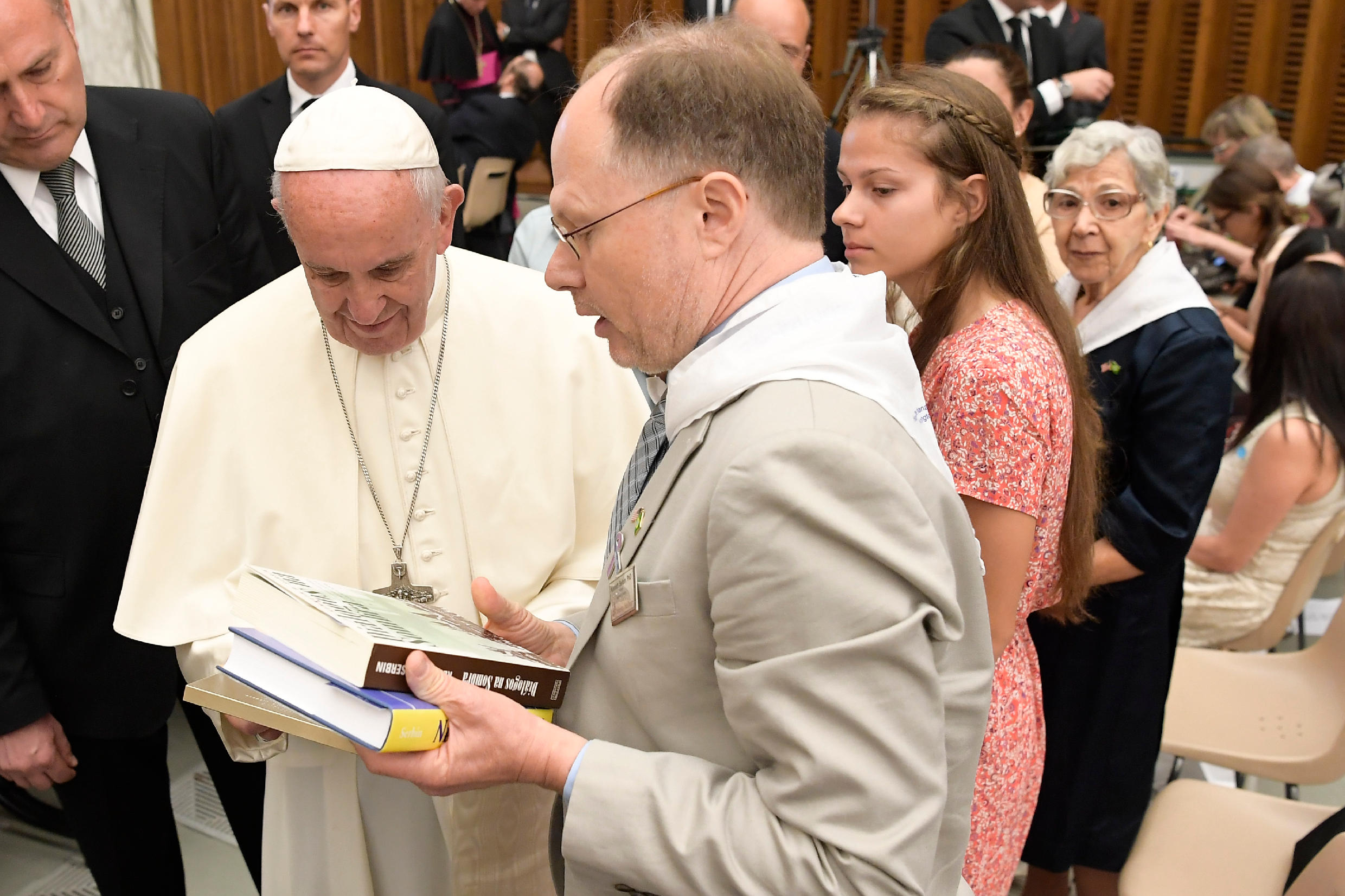 USD History Professor Ken Serbin with Pope