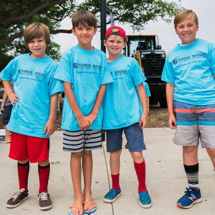 Children at Bayside/Thrive groundbreaking