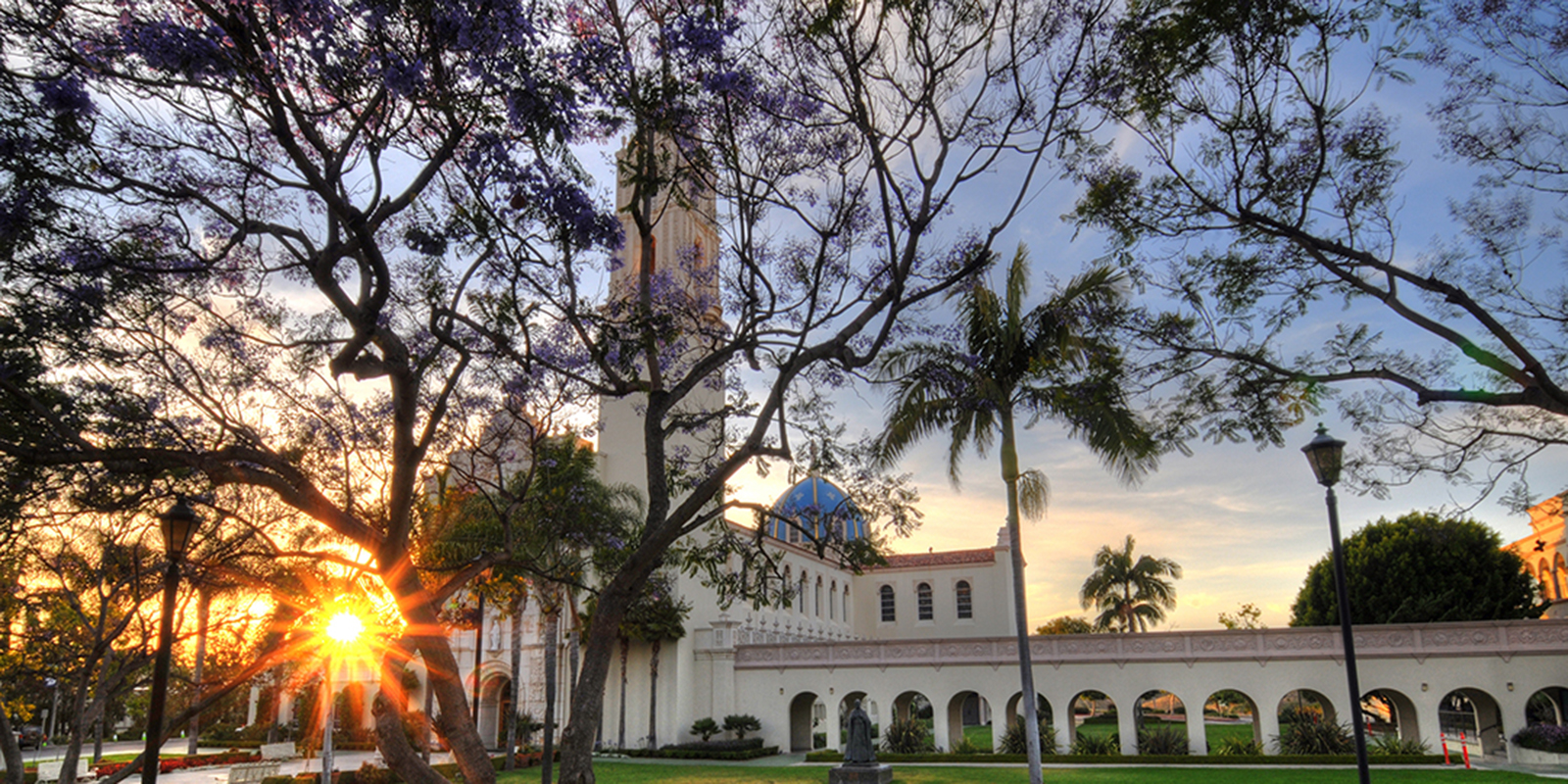 Beauty shot of USD campus