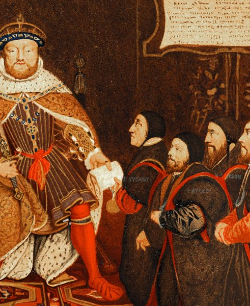 HENRY VIII AND THE BARBER SURGEONS, HANS HOLBEIN