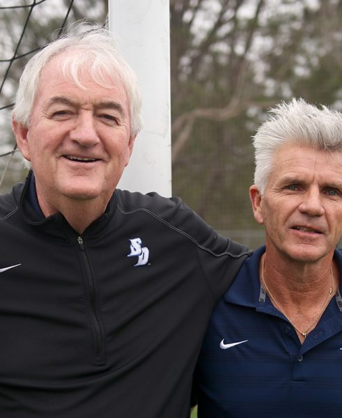 USD Men's Soccer Coach Seamus McFadden and Brian Quinn