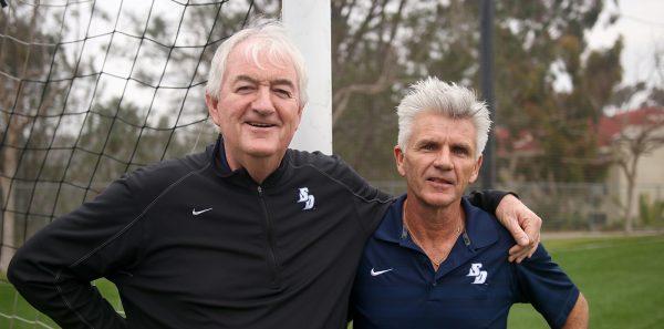 USD Men's Soccer Coach Seamus McFadden and Brian Quinn