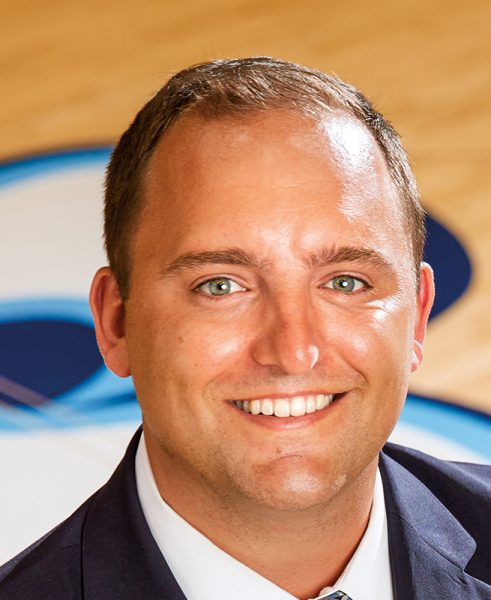 USD senior associate director of athletics for development Tyler Mariucci
