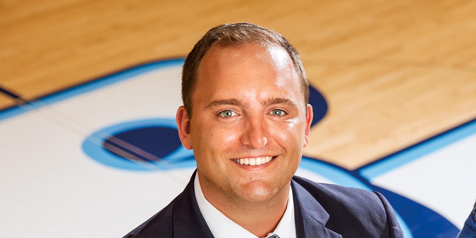 USD senior associate director of athletics for development Tyler Mariucci