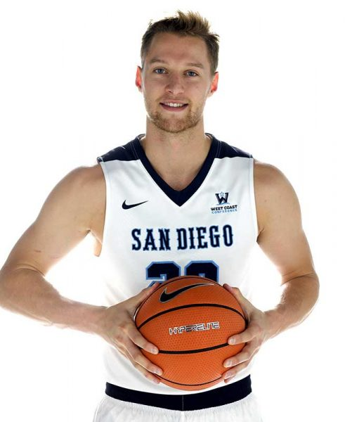 USD Basketball player Cameron Neubauer