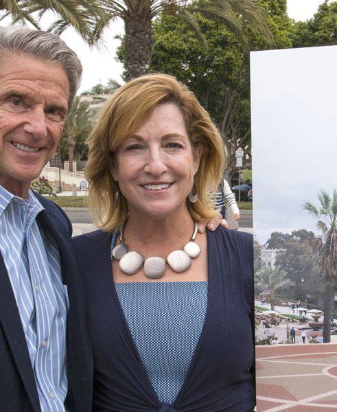 USD Board of Trustees Chair Don Knauss alongside his wife, Ellie.